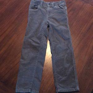 Boy's Sz 6 Shaun White Gray Corduroy Pants EUC